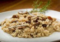 Pavé de Veau au sautoir, Risotto champignons