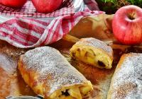 Strudel pommes, raisins secs et amandes