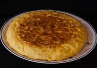 Tortilla PDT, poivron, Chorizo