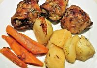 Cuisse de Poulet braisée à la bière, Légumes cocotte